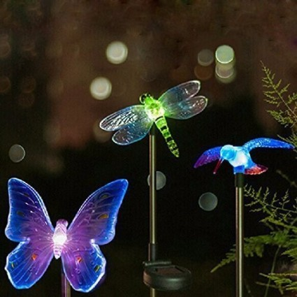 Oxyled | OxyLED Solar Garden Lights, Hummingbird, Butterfly U0026 Dragonfly  Color Changing LED Light