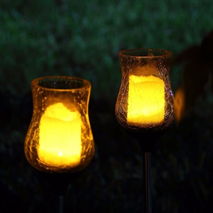 Oxyled Oxyled Sl 06 Crackle Glass Glickering Candle Led